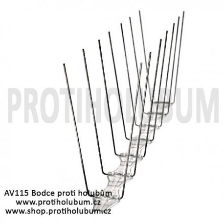 AV115 Bodce - Hroty - Nerezový hrotový systém proti holubům pro plochy do 115mm www-proti-holubum-cz