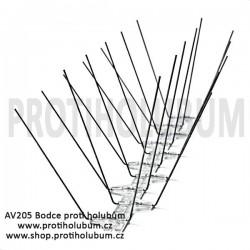 AV205 Bodce - Hroty - Nerezový hrotový systém proti holubům pro plochy do 205mm  www-proti-holubum-cz