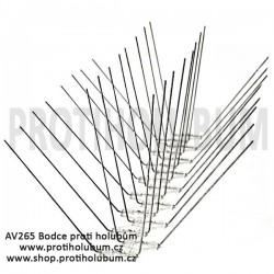 AV265 Bodce - Hroty - Kvalitní nerezový hrotový systém proti holubům pro plochy do 265mm