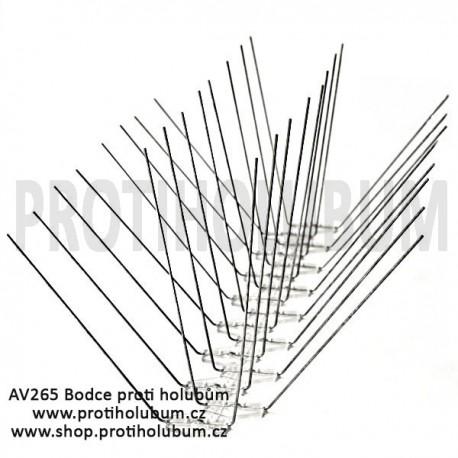 AV265 Bodce - Hroty - Hrotový systém proti holubům pro plochy do 265mm www-proti-holubum-cz