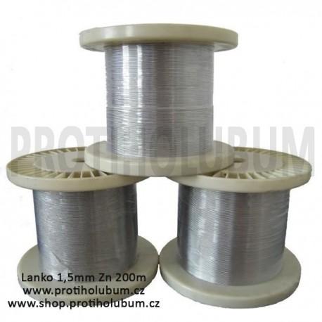Lanko 1,5mm Zn 200m www-proti-holubum-cz