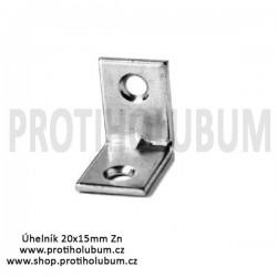 Úhelník 20x15mm Zn pro kotvení do plechu www-proti-holubum-cz