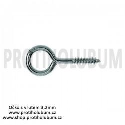 Očko s vrutem 3,2mm Zn pro hmoždinku ZF50 do zateplených fasád www-proti-holubum-cz