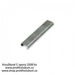 Kroužkové C spony pro profi přichycení sítě Al - hliník 2500ks www-proti-holubum-cz