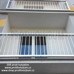 Sítě proti holubům – 3,95 x1,8m ZATEPLENÁ FASÁDA Kom0pletní sada pro montáž balkon / lodžie 1 www-proti-holubum-cz