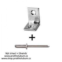 Nýt trhací 4x10 AL + Úhelník 20x15mm Zn www-proti-holubum-cz